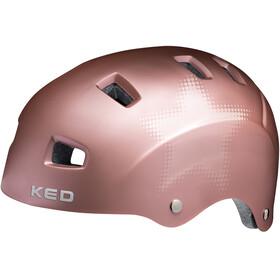 KED Risco Kask rowerowy, rose matt star
